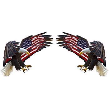 Amazon Com American Eagle American Flag Rv Trailer