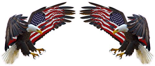 - American Eagle American Flag X Large Pair Decals 24