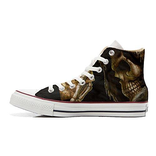 Morte Horror Unisex Sneaker Personalizzate All Artigianale Converse Star scarpa az4xq