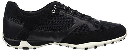Freccia A Blackc9999 Geox Sneakers D Noir Femme Basses T5qqPAwE