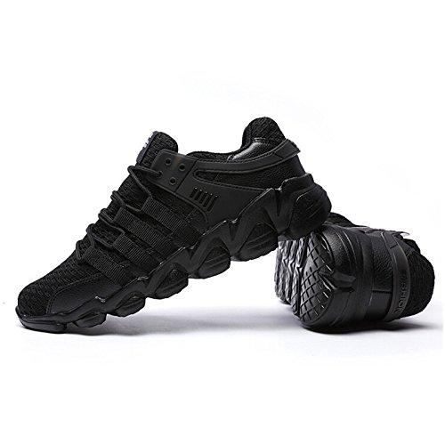 Rembourrage chaussures chaussures chaussures course pour air sport Hommes de adultes léger de Running Mens plein hommes confort de hommes respirant pour Black grtqgw4
