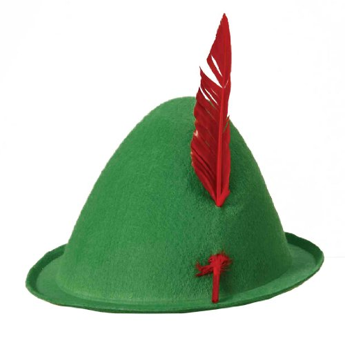 Rubie's Costume Co Alpine Hat with Quill Costume, Green
