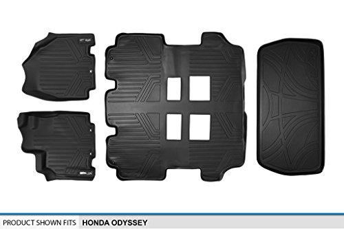 SMARTLINER Floor Mats (3 Rows) and Cargo Liner Set Black ...