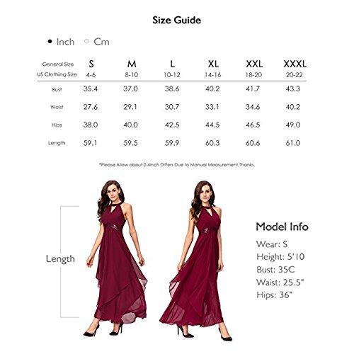 Coctail Spalla Elegante Le Paillettes Con Vestito Achaestrella Chiffon In Vita Nero Torna E 8qWwdA1