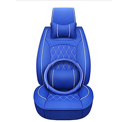 PU leather car seat covers for 98% of seats blue: