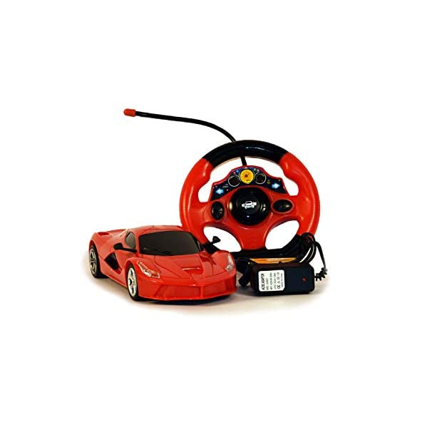 Gooyo Radio Control Full Function 1:18 Scale Toy Racing Car with Chargeable Batteries for Kids(Red)