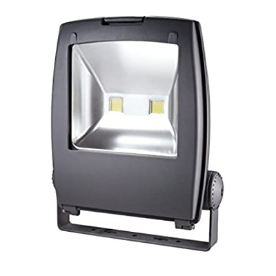 Zesol 80W Warm White LED Flood light Waterproof Outdoor Lights Black Case
