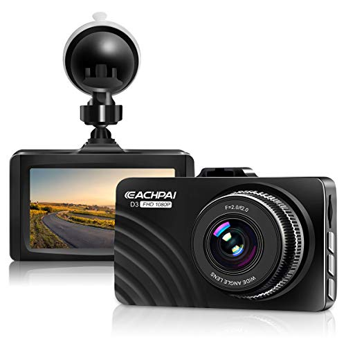 Dash Cam 1080P Full HD Car Dashboard Camera Recorder for Cars with Super Night Vision, 3″ LCD Screen DVR Dashcam, Parking Monitor, G-Sensor, WDR, Motion Detection