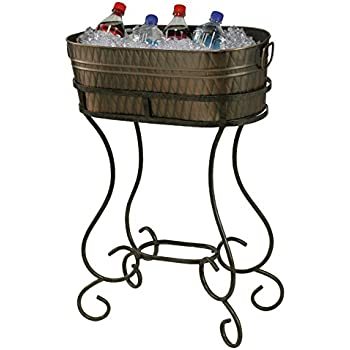 Amazon Com Old Dutch Solid Etched Beverage Tub With Stand