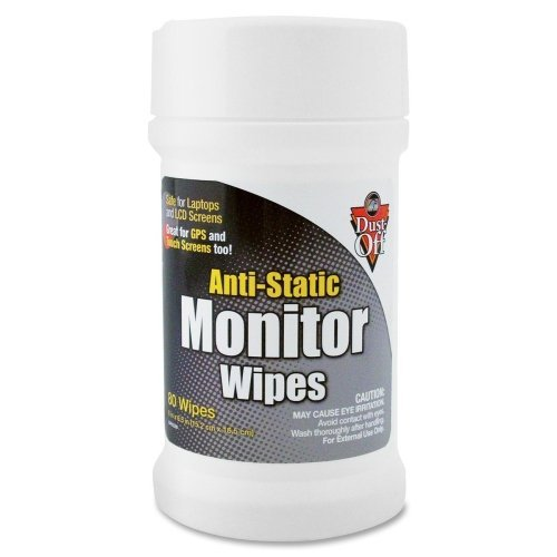 Wholesale CASE of 25 - Falcon Safety Anti-Static Monitor Wipes-Anti-static Monitor Wipes, 6''x6-1/2'', 80 Wipes