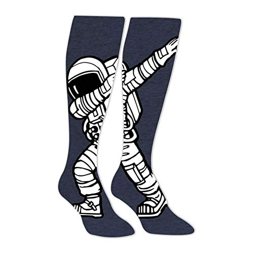Knee High Stockings Dabbing Astronaut Long Socks Sports Athletic for Man and Women -