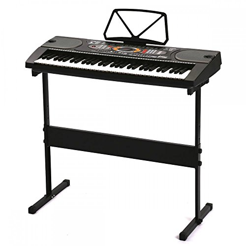 Great Features Of Black 61 Key Full Size Electronic Music Keyboard Piano Organ with Stand