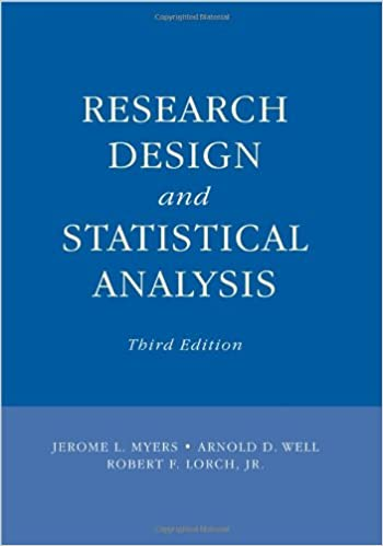 Research Design And Statistical Analysis Third Edition Jerome L