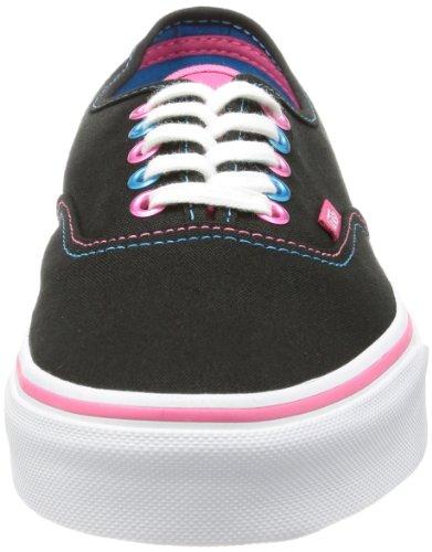 Vans U AUTHENTIC VTSV8QS Unisex-Erwachsene Sneaker Schwarz (pop Eyelets Bl)