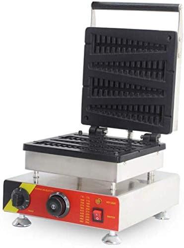 Küchenks Chef Profesional Hogar al Aire Libre Gofrera eléctrica Antiadherente Acero Inoxidable Comercial Profesional Gofrera Máquina para Hornear Pasteles Horno 220~240V Enchufe del Reino Unido