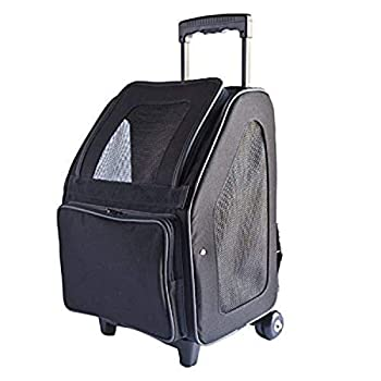 Image of Pet Supplies Petote Rio Bag On Wheels Pet Carrier, Black