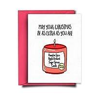 So Extra Funny Christmas Card Funny Holiday Card for Girlfriend - Happy Holidays Card - Joke Christmas Card