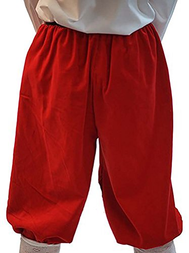 Fancy Dress-Panto-Pirate-Edwardian-Victorian-Tudor COTTON VELVET CROPPED TROUSERS - All Ages (TEEN, BLACK) ()