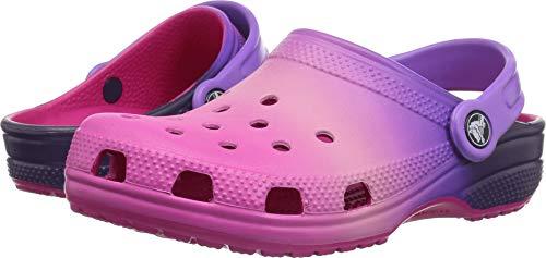 crocs Unisex Classic Ombre Clog K, pink ombre, 1 M US Little Kid