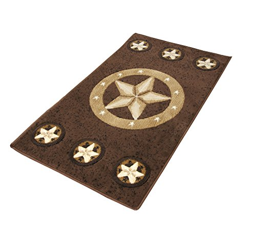 Rugs 4 Less Collection Texas Lone Star State Novelty Area Rug R4L 78 Chocolate (2'X3'4