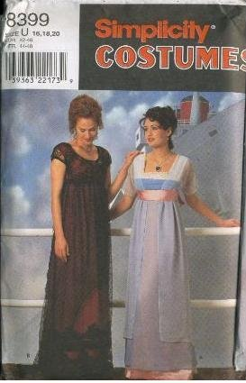 Simplicity 8399 - Rose Titanic Gown Costume Pattern - Size U (16, 18, 20)