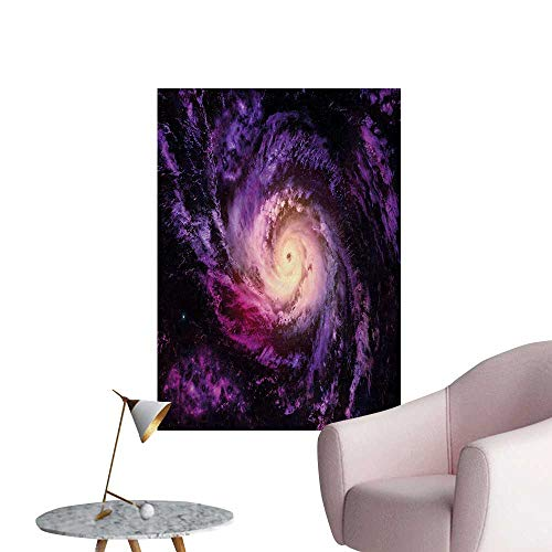 Anzhutwelve Galaxy Wallpaper Purple Nebula Cloudy Stardust Cluster Digital Print of a Galaxy in Space ImageBlack Purple W32 xL48 Art Poster -