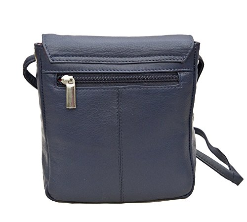 Buckle Navy Victoria Small Ladies Hide Crossbody Prime Bag Leather wqH8XAU