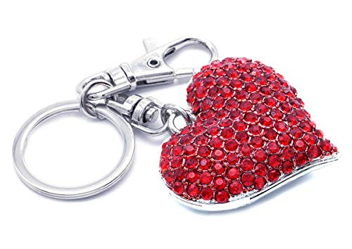 Soulbreezecollection Perfect Red Big Love Heart Keychain Key Ring Charm