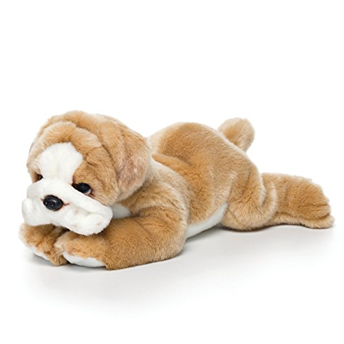 Nat and Jules Laying Large Bulldog Children's Plush Stuffed Animal Toy -