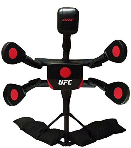 BAS UFC Body Action System X2 - Professional Freestanding Home Training Equipment for MMA, Boxing, Muay Thai and Martial Arts - Adjustable Punching and Kicking Pads (Best Martial Art For Multiple Opponents)