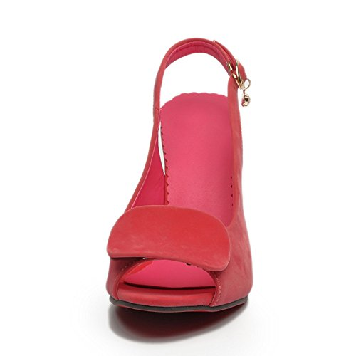 RAZAMAZA Mujer Peep Toe Tacon de Aguja Slingback Vestido Sandalias Rosado