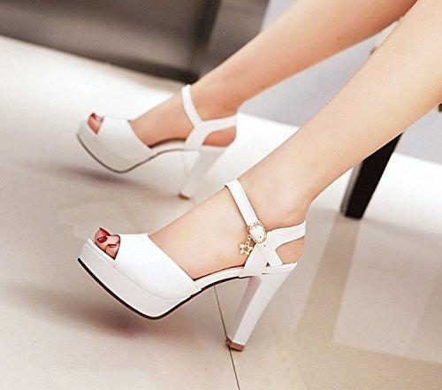 Ymfie Banquete Moda Partido Las Tacón White Personalidad La Alto Sexy Sandalias De Señoras Verano Tacones rgqwPAr