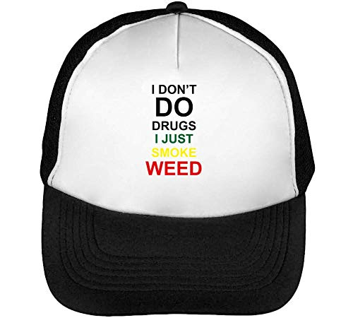 Hombre I Weed Do Beisbol Drugs Smoke Snapback I Negro Don'T Blanco Gorras UpO7qxUTw