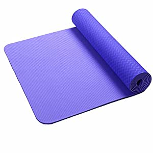 MDRW-Yoga Lovers 6Mm Yoga Pilates Mat Extended Anti Slip Yoga Pilates Mat Sports Slip Yoga Pilates Mat 183*61Cm A Yoga Mat