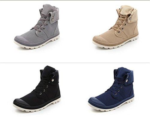 Bininbox Casual Heren Sportschoenen High-top Ademend Sportschoenen Voor Sportschoenen Comfortabel Lopend Canvas Grijs