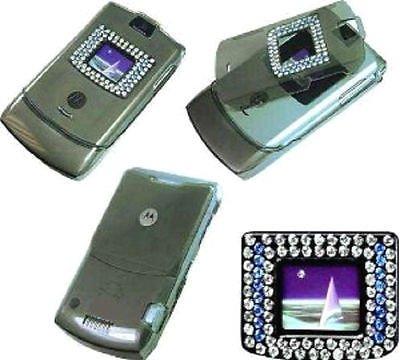 3 MOTOROLA RAZR BLING RHINESTONE DIAMOND Cover Case V3 V3C V3M Skin Phone Razor ()