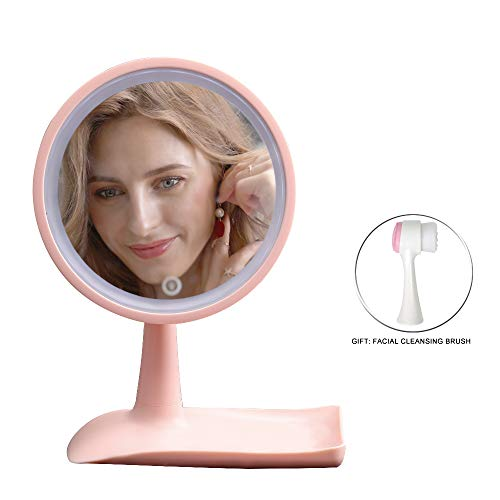 LED Makeup Mirror, Portable Cosmetic Mirror With 360 Degree Rotation, LED Vanity Mirror Magnifies and Light Up