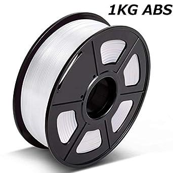 Filamento de impresora 3D ABS blanco marfil de 1,75 mm, 1 kg ...