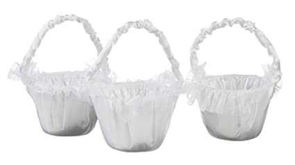 Amazon darice vl2045 01 flower girl basket white set of 3 darice vl2045 01 flower girl basket white set of 3 mightylinksfo