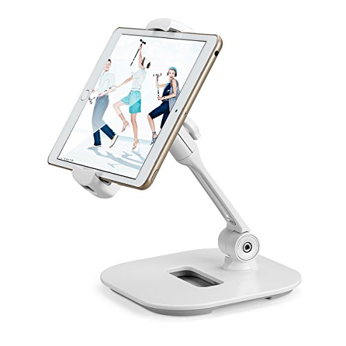 Suptek 360 Degree Adjustable Stand/Holder for Tablets(up to 11 inches) and for iPad iPhone Samsung Asus Tablet Smartphone and more LD-204DW