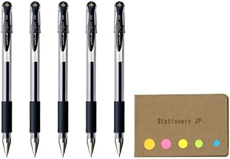 Uni-ball Signo Capped Gel Ink Pen UM-151DX 0.38mm Blue Black Ink 5-Pack