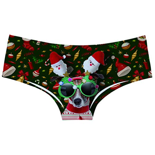 - AIDEAONE Women's Christmas Flirty Sexy Funny Naughty 3D Printed Scared Cat Underwears Briefs Hipsters Panties