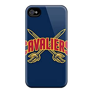 Iphone 4/4s WIY11675klSi Nba Cleveland Cavaliers 3 Tpu Silicone Gel Cases Covers. Fits Iphone 4/4s