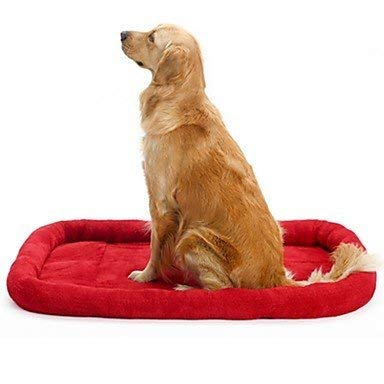 CFHJN HOME Soft Fleece Pet Dog Cat Blanket Cushion Bed Warm Sleeping Mat (Red,XL) Pet Bed Blanket