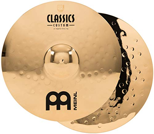 "Meinl 14"" Powerful Hihat (Hi Hat) Cymbal Pair  -  Classics Custom Brilliant - Made in Germany, 2-YEAR WARRANTY (CC14PH-B)"