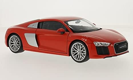Amazon Com Audi R8 V10 Red 2016 Model Car Ready Made Welly 1
