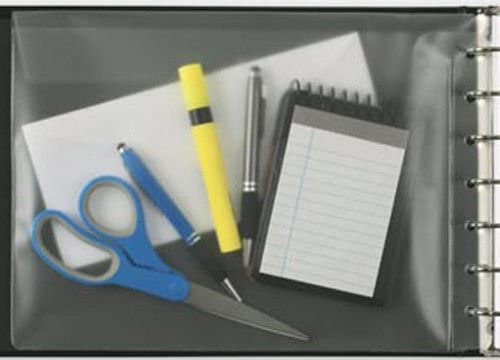 Clear ABC Vinyl Pouch Bill Keeper Pocket for 7 Ring Binders 13 x 9 1//2