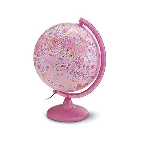 Kinderleuchtglobus ZP 2562 Zoo Pink: Kinderleuchtglobus 25 cm, Kunststoffausstattung in Pink, Glitzer im Fuß, mit Abbildungen (Globus für Kinder)