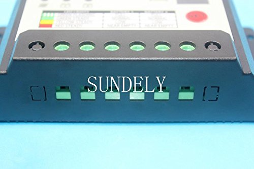 SUNDELY/® Dual Battery 10A PWM 12V//24V Solar Charge Controller with System Protection Regulator /& Digital Led Display