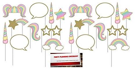 Amazon com: Unicorn Sparkle Deluxe 20 Piece Photo Booth Props Set